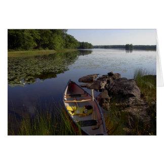 Peaceful Canoe Notecard