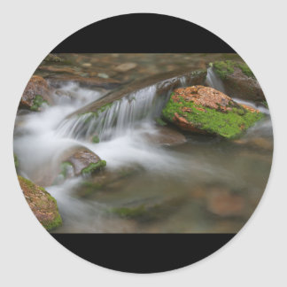 Peaceful Cascade Classic Round Sticker