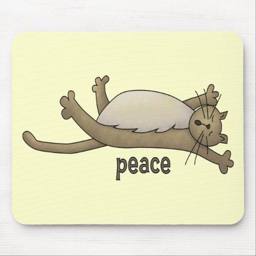 Peaceful Cat Mousepads