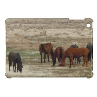Peaceful Cattle Horses Graze Range Western Scene iPad Mini Case