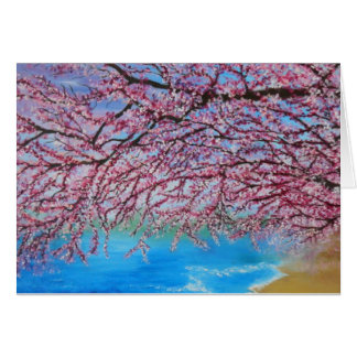 Peaceful cherry blossom greeting card