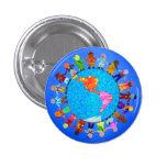 Peaceful Children 1 Inch Round Button