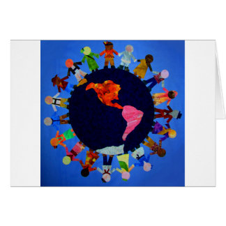 Peaceful Children around the World Card