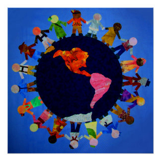 Peaceful Children around the World Posters