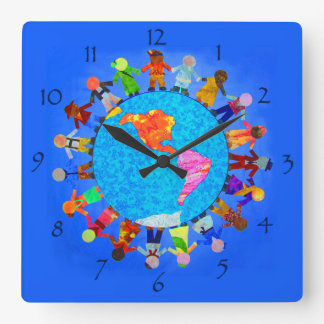 Peaceful Children around the World Wall Clock