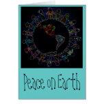 Peaceful Children around World Note Card: