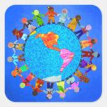 Peaceful Children Square Sticker