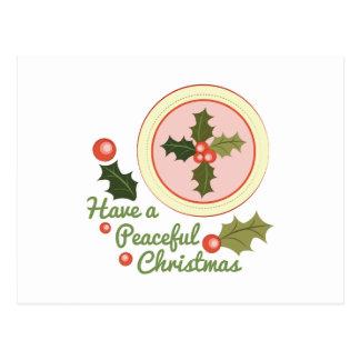 Peaceful Christmas Postcard