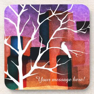 Peaceful City Park Dove Collage Drink Coaster