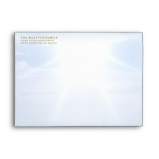 Peaceful Clouds & Sky Matching Sympathy Envelope