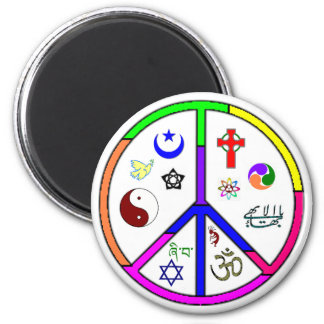 Peaceful Coexistence 2 Inch Round Magnet