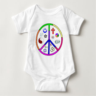 Peaceful Coexistence Baby Bodysuit