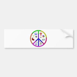 Peaceful Coexistence Car Bumper Sticker