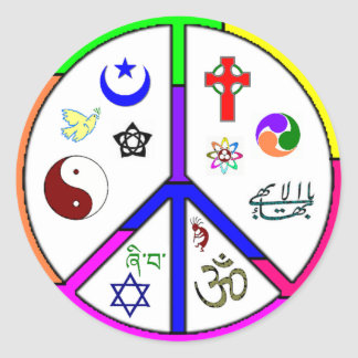Peaceful Coexistence Classic Round Sticker