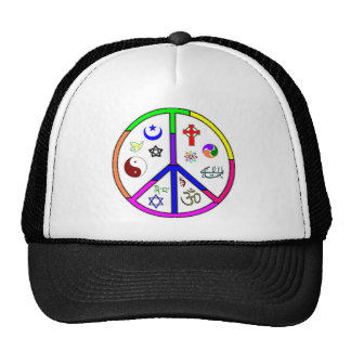 Peaceful Coexistence Mesh Hats