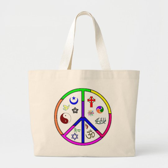 Peaceful Coexistence Large Tote Bag