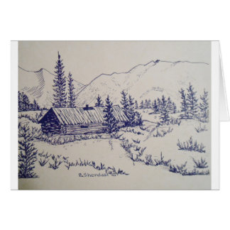 Peaceful Cottage of the Backwoods Card