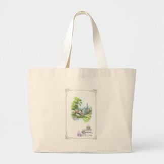 Peaceful Country Vintage Easter Canvas Bags