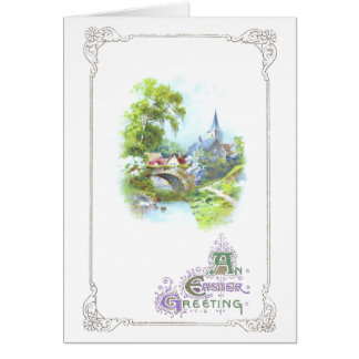 Peaceful Country Vintage Easter Card