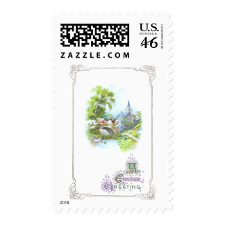Peaceful Country Vintage Easter Stamps