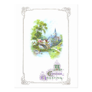 Peaceful Country Vintage Easter Post Cards