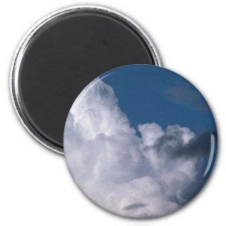 Peaceful Cumulonimbus Fridge Magnet