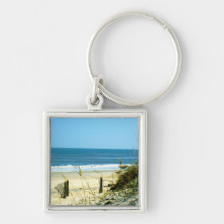 Peaceful Day At The Beach Keychain