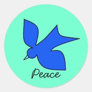 Peaceful Dove Classic Round Sticker