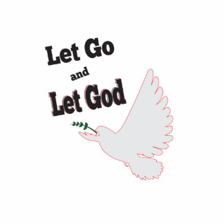Peaceful Dove Let Go Let God Recovery Statuette
