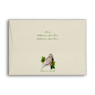 Peaceful Dove with Holly and Ivy Christmas Envelope