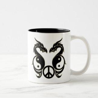 PEACEFUL DRAGONS - YIN & YANG COFFEE MUG