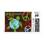 Peaceful Earth Shell Honu Holiday Stamp