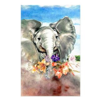 Peaceful Elephant Customized Stationery