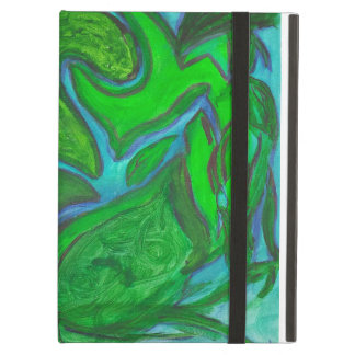 Peaceful Energy Green Eyed Kitty iPad Air Cover