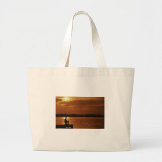Peaceful Evening Angler Tote Bag