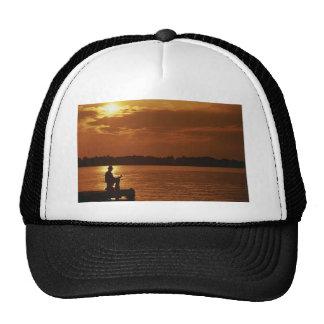 Peaceful Evening Angler Trucker Hat