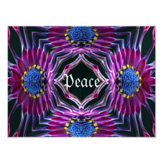 Peaceful Floral Poster
