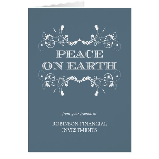 Peaceful Florals Business/Corporate Holiday Card Card