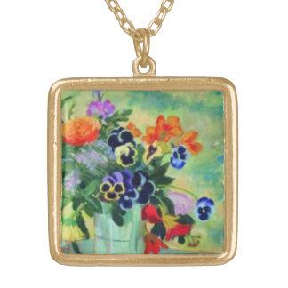 Peaceful Flower Art Necklace