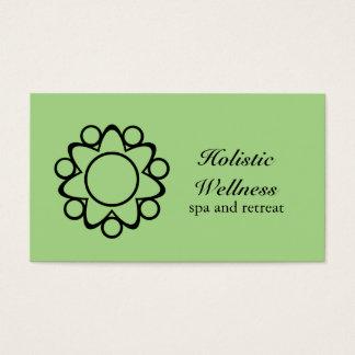 Peaceful Flower Business Card, Light Green Business Card