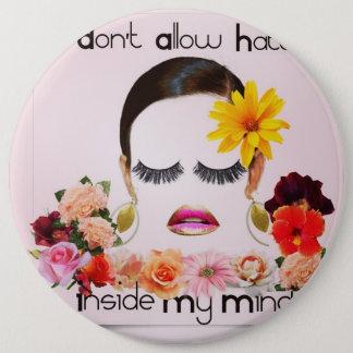 """Peaceful Flower Girl"" a Miriam Havard design. Pinback Button"