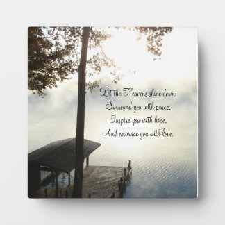 Peaceful Foggy Lake Inspirations Plaque