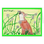 peaceful fox by peacewillow greeting card