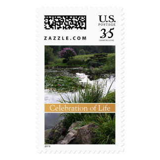 Peaceful Garden #2 - Celebration of Life Stamps
