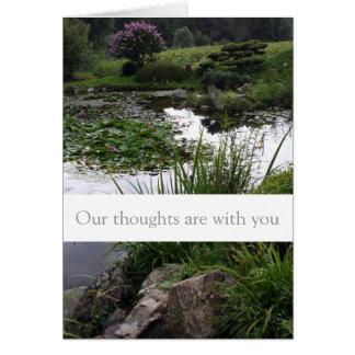 Peaceful Garden Condolences Sympathy Card