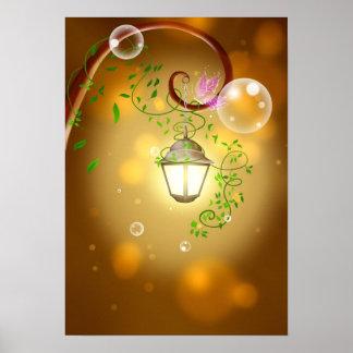 Peaceful Garden Lantern Poster