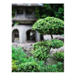 Peaceful garden postcard