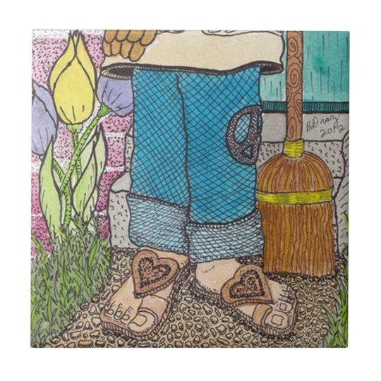 Peaceful Gardener Tile