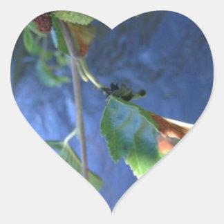 peaceful gift heart sticker