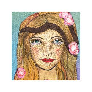 Peaceful Girl Canvas Print